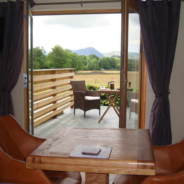 French windows open onto private decking